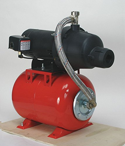 3/4 HP Shallow Well Jet Pump System, 10.8/5.5 Amps, 1-1/4'' NPT Inlet, 1'' NPT Outlet by Dayton