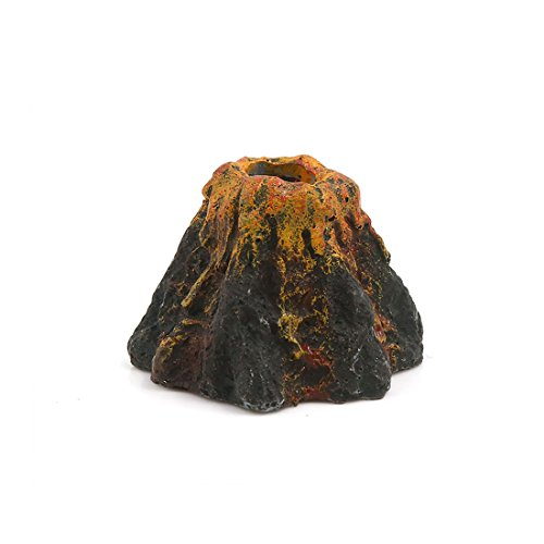 (uxcell Aquarium Fish Tank Decoration Artificial Volcano Bubble Maker 2.36