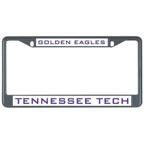 Tennessee Tech Metal License Plate Frame in Black Golden Eagles 12