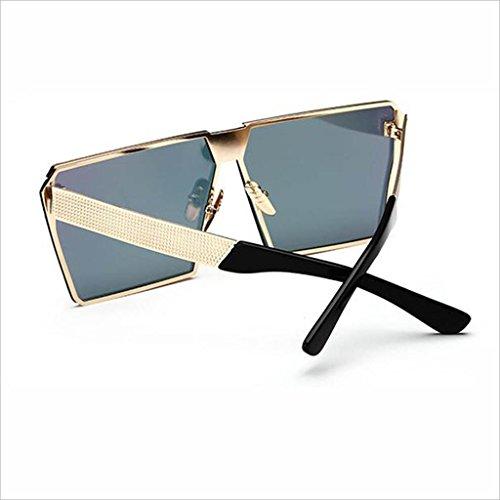 Marco Gafas 5 de Cuadrado Color Mujer Sol Personalizadas Cara Color Beat UV Gafas HOME polarizada Redonda Street 1 Protección QZ BwqOHg5w