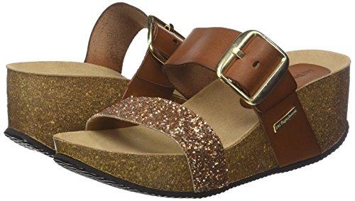 Marrón M Les bronze Para Papille tan Mules Tropéziennes Par Glitter Belarbi Mujer n8Exq6wFEC