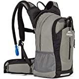 RUPUMPACK Insulated Hydration Backpack Pack with 2.5L BPA Free Bladder, Lightweight Daypack Water Backpack for Hiking Running Cycling Camping, School Commuter, Fits Men, Women, Kids, 18L