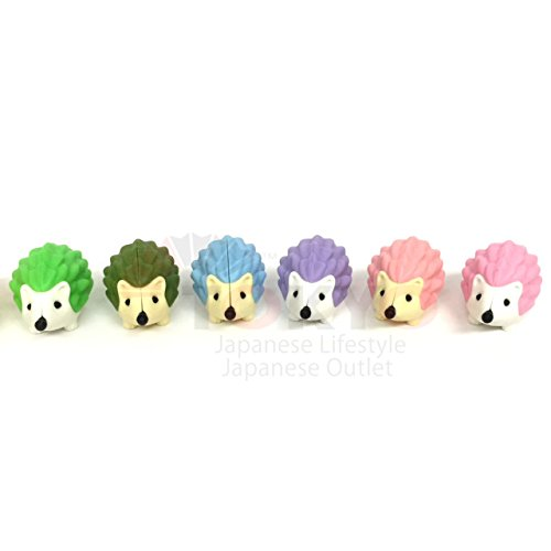 Iwako Japanese Pencil Erasers Limited Edition only at Tokyo Japanese Outlet Hedgehog 12pcs