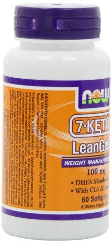 Now Foods 7-keto 100mg Leangels, 60-softgels
