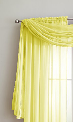 Amazing Sheer Window Scarf Fabric Sheer Voile curtain for...