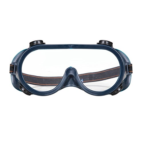 Safety Goggles, Genround Clear Safety Glasses for Men & Women | Splash & Impact Resistant | Goggle Eye Protector Wide-Vision Lab Safety Goggle for Construction, DIY, and Home - Goggles Safety Round