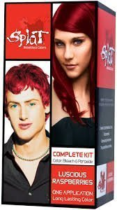Splat Rebellious Colors Hair Coloring Kit - Luscious Raspberry (Set of 2) (Raspberries Luscious)