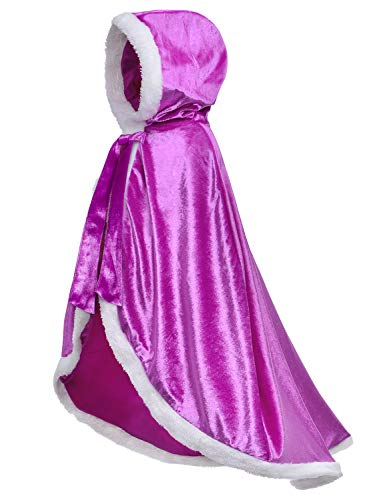 Fur Princess Costume Cape Fur Hooded Cloaks for