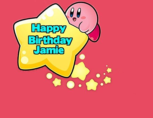 Kirby Edible Image Photo Cake Frosting Icing Topper Sheet Personalized Custom Customized Birthday Party - 1/4 Sheet - 79070 (Kirby Cake)