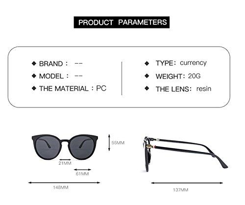 rayas lente mujeres gran hombres nuevo sol T8 reflectante UV400 vintage marco ATNKE de diseño PC de polarizado de ojo de HD gafas de con tamaño para moda madera gato gafas protección Hx87q