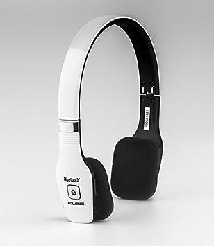Elbe ABT-033-BL - Auriculares de diadema Bluetooth (plegables, con micrófono), color blanco: Amazon.es: Electrónica