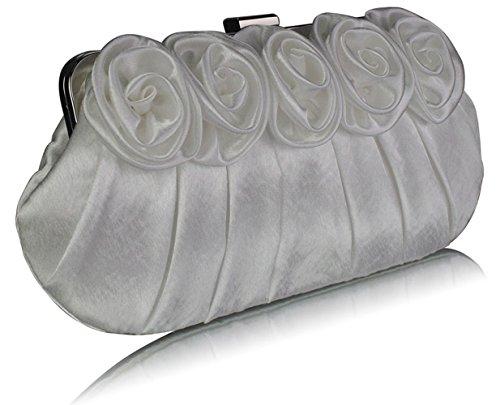CWE00101 CWE00287 Wedding Clutch Diamante Designer Size Handbag Evening Frame CWE00287 Satin Ivory Quality Ladies Bridal Crystal Bags Small Women's Fashion Festival p6T6wH