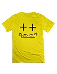 L572 Smile T Shirts For Mens Yellow