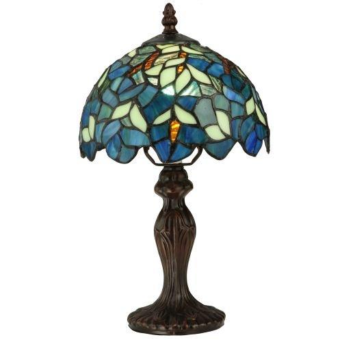 """Meyda Tiffany 124812 Nightfall Wisteria Mini Table Lamp, 14"""" Height from Meyda Tiffany"""