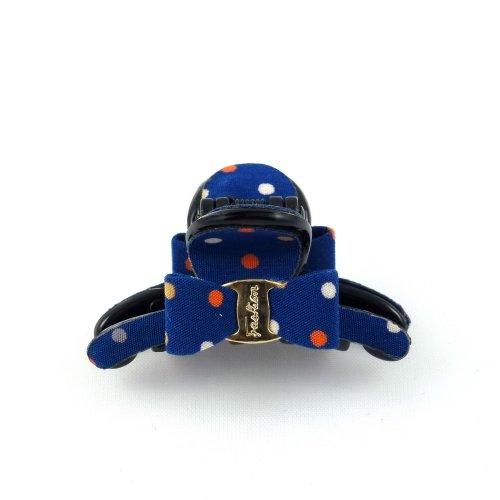 rougecaramel Haarschmuck Zange Haar Mini Hummerzange gepunktet-Blau
