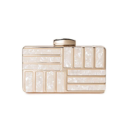 Alloy Acrylic - Evening Bags Clutch gold women Box Alloy Acrylic bag formal dress handbags Should bags purse