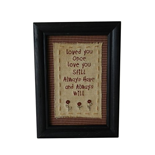 CVHOMEDECO. Primitives Antique Loved You Once, Love You Still, Always Have and Always Will Stitchery Frame Wall Mounted Hanging Decor Art, 8