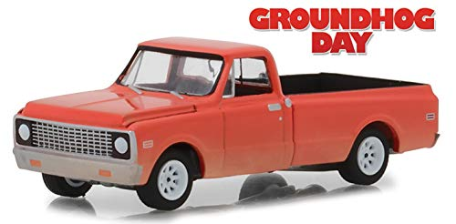 1971 Chevrolet C-10 Pickup Truck Orange Groundhog Day (1993) Movie Hollywood Series 21 1/64 Diecast Model Car by Greenlight 44810 C