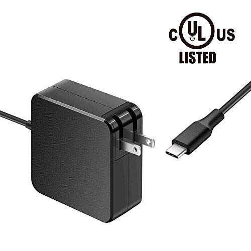 (7.5Ft 90W USB C AC Charger Fit for 65W 45W Lenovo Dell Hp Asus Acer Samsung Toshiba Razer Surface Book Type C Port Series Laptop Power Supply Adapter Cord )