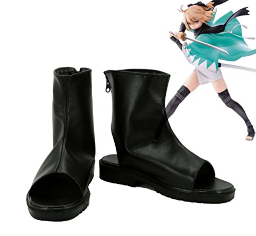 [Fate/Grand Order Saber Okita Souji Cosplay Shoes Boots Custom Made] (Okita Souji Cosplay Costume)