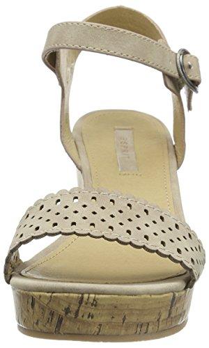 Beige mujer Sandal Gessie de descubierta Esprit Sandalias para punta beige 0C784wnqFx