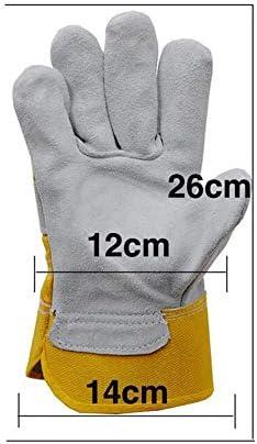 ガーデニング用手袋 乗馬の取り扱い溶接の溶接庭の手袋革の快適な摩耗の手袋厚い短い段落安全な手袋 園芸 採掘 植栽 枝切り 防護手袋