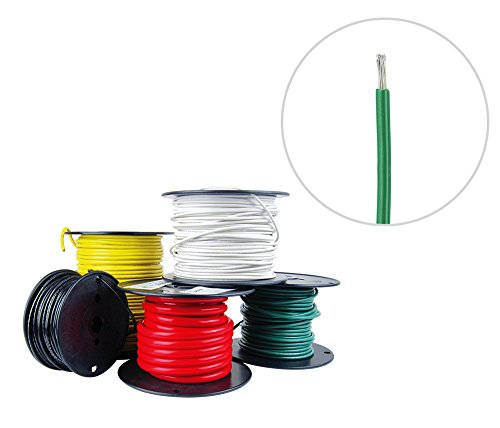 Green Tinned Wire (16 AWG Marine Wire - Tinned Copper Primary Boat Cable - 100 Feet - Green - Made in the USA)