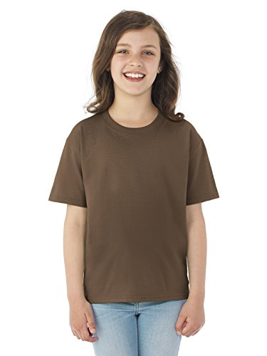 Fruit of the Loom Boys 5 oz.Heavy Cotton HD T-Shirt (3931B) -Chocolate -XS ()