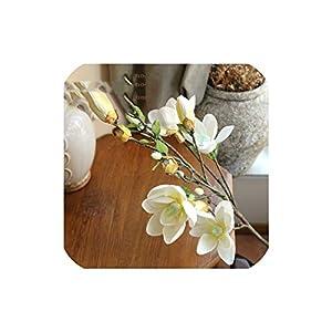 Bling-Bling Case Long Branch Hand-Feel Magnolia,Living Room,Tv Cabinet,Shop Simulation Flower,Home Decoration Indoor Floor Flower,4 28