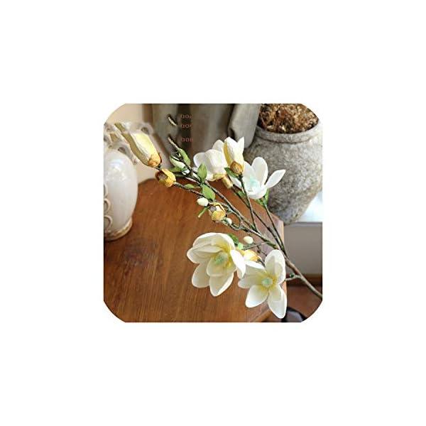 Bling-Bling Case Long Branch Hand-Feel Magnolia,Living Room,Tv Cabinet,Shop Simulation Flower,Home Decoration Indoor Floor Flower,4