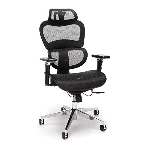 OFM Model Core Collection Ergo Mesh Office Chair with Head Rest for Computer Desk, Black