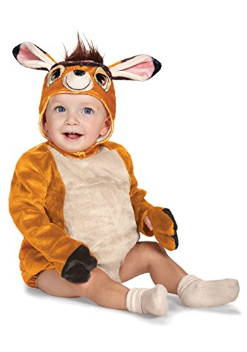 Bambi Halloween Costumes (Disney Baby Bambi Deluxe Infant Costume, Brown, 12 to 18 Months)