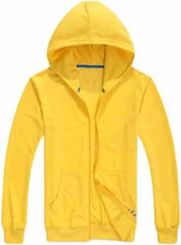 GAGA Men Solid Color Full Zip Hooded Sweater Tools & Equipment