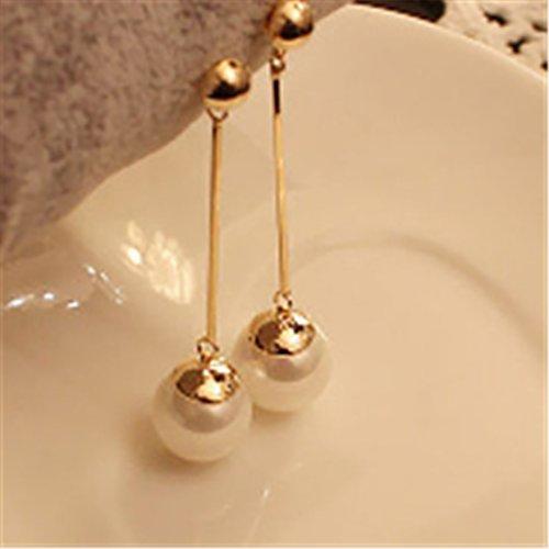 ULAKY Pearl Long Drop Earrings Pearl Tassel Earrings