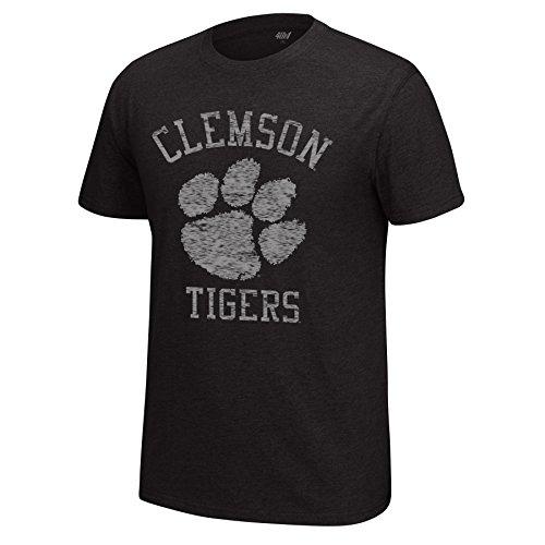 J America NCAA Clemson Tigers Men's Major Mascot Staple Tee, Black Heather, Small