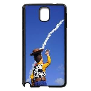 Caso Woody de Toy Story Samsung Galaxy Note 3 cubierta de la caja del tel¨¦fono celular Negro Cubierta EVAXLKNBC01230