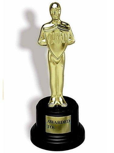 Gold Trophy Halloween Costume (Forum Novelties 347111 Best Costume Skeleton Trophy)