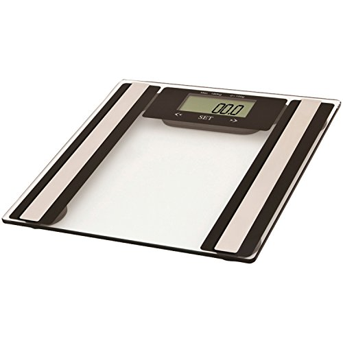 VIVITAR PS-V527-C Total Fitness Digital Bathroom Scale (Clear) (Vivitar Digital Total Body Fat And Fitness Scale)