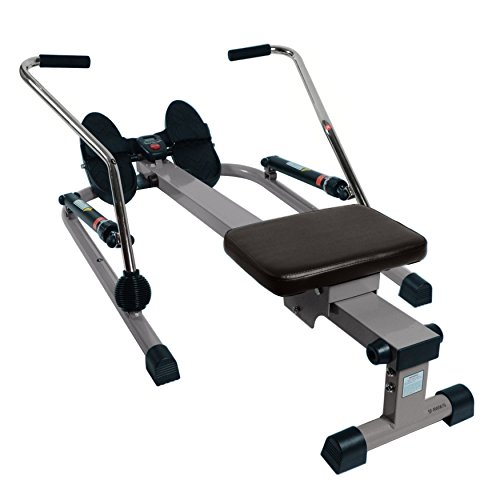 Sunny Health & Fitness 12 Level Resistance Rower by - SF-RW5619 12 Level Resistance Rower, Gray