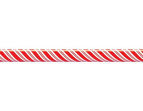 Teacher Created Resources Candy Cane Straight Border Trim, Red/White (4667)