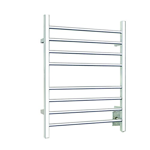 Warmly Yours Warmlyyours 8-Bar Polished Stainless Sierra Section Square Towel Warmer, Solid