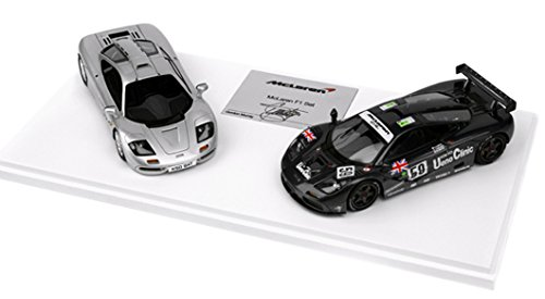 1/43 マクラーレン F1/ F1 GTR 2台セット Gordon Murray サイン入り (シルバー&ブラック) TSM14SS2