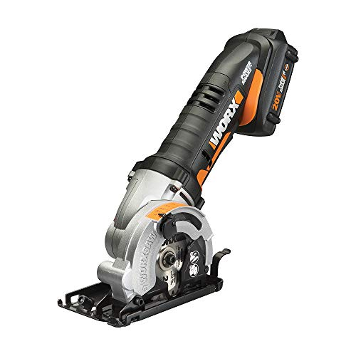 "WORX WX523L 20V 3-3/8"" Max Lithium-Ion Plunge Circular Saw"