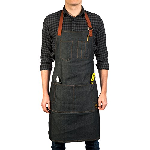 Vulcan Workwear Utility Apron - Multi-Use Shop Apron with Pockets - Lightweight Denim Tool Apron by Vulcan Workwear