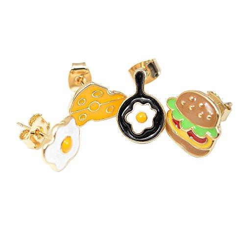 Spinningdaisy Fun Cheese Sandwich Earrings