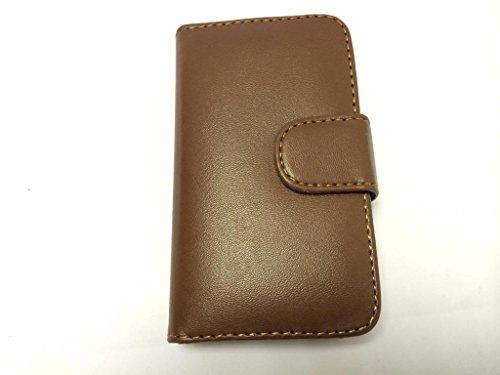 Eccellente Wallet Migliore di Apple iPhone 4 4S Brown con due fessure per carta PU Leather Case Cover per Apple iPhone 4 4S