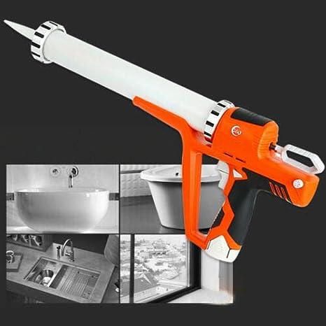 Cartuccia a Batteria Pressa 12V 1.5AH Pistola a Cartuccia per Pistola 4000N Pistola per Silicone Pistola per Silicone 300-600 ML con 2 Batteria