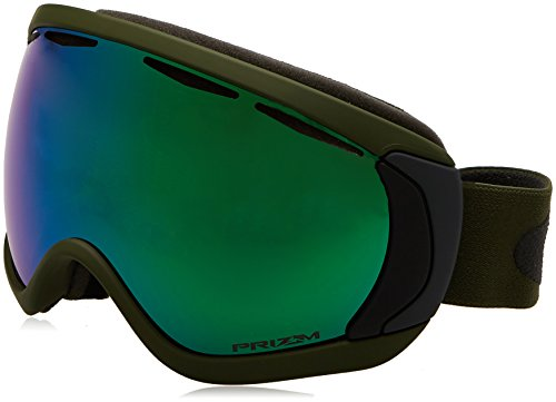 Oakley Men's Canopy Snow Goggles, Army Green Iron, Prizm Jade Iridium, - Military Oakleys For