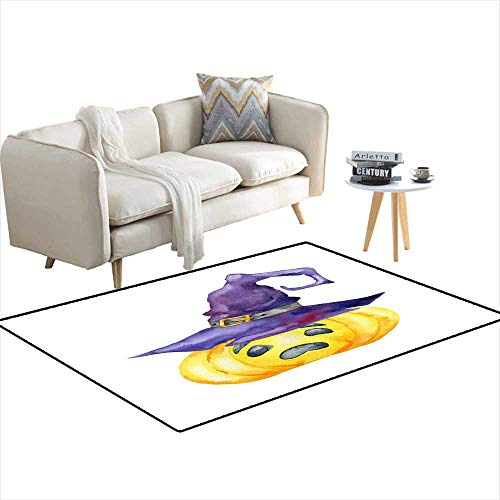Area Rugs for Bedroom Halloween Pumpkin on White backgroun 48