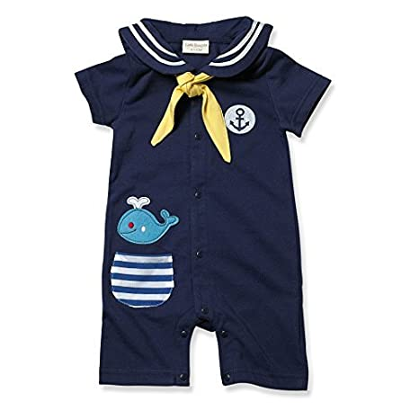 Pequeños Youngster bebé-Boys infantil Whale marinero Polo Romper ...